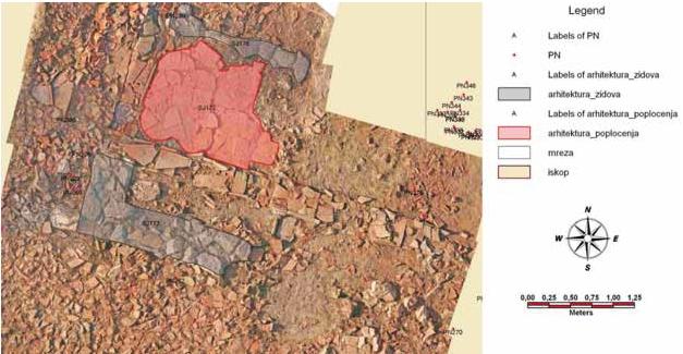 Prikaz dijela terena s fotoskicom