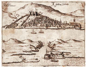 Il fidellisimo Sibenicho, map variation from the early 1570s, Novak Collection, unsigned