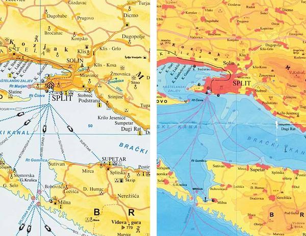 Split-Dalmatia County Map