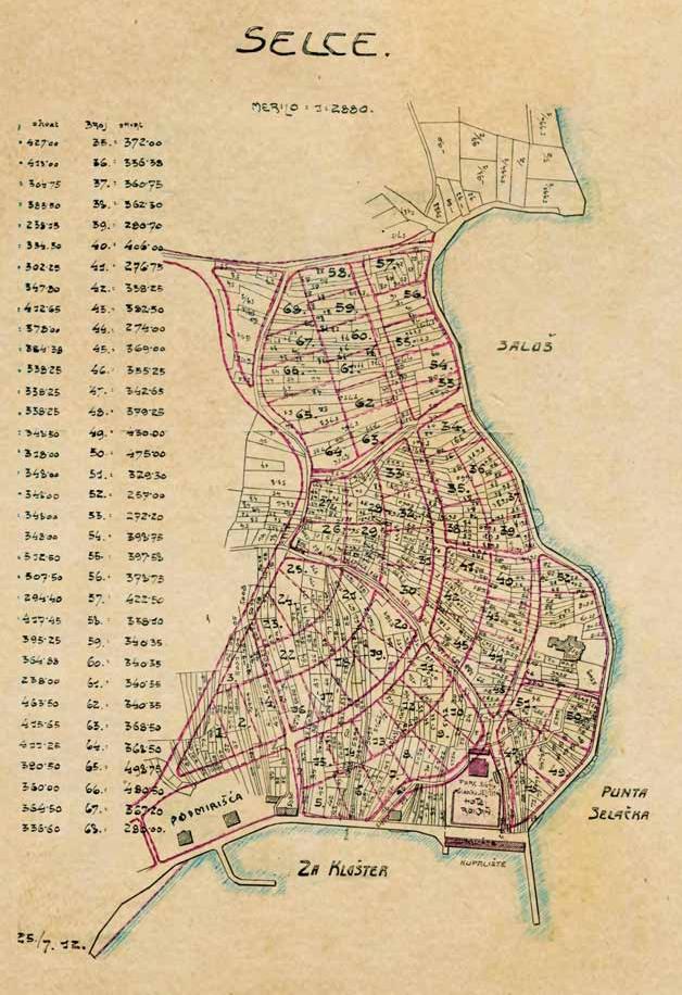 Plan Selca iz 1909